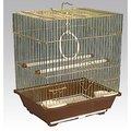 Клетка для птиц 105-G 30х23х39см (золотая) Kormberi.ru магазин товаров для ваших животных