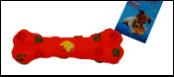 УЮТ Косточка с лапками 15,5см, винил ИШ26 Kormberi.ru магазин товаров для ваших животных