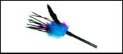 Дразнилка фиолет-синие перья 40см ИУ21 Kormberi.ru магазин товаров для ваших животных