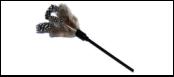 Дразнилка гибкая серые перья 50см ИУ17 Kormberi.ru магазин товаров для ваших животных