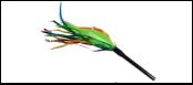 Дразнилка зелен-оранж перья 40см ИУ22 Kormberi.ru магазин товаров для ваших животных