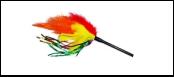 Дразнилка яркие перья 38см ИУ20 Kormberi.ru магазин товаров для ваших животных
