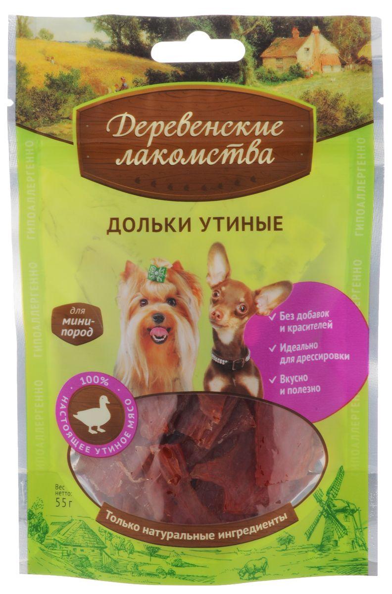 Лакомство для собак мини-пород 'Деревенские лакомства', дольки утиные, 55 г Kormberi.ru магазин товаров для ваших животных