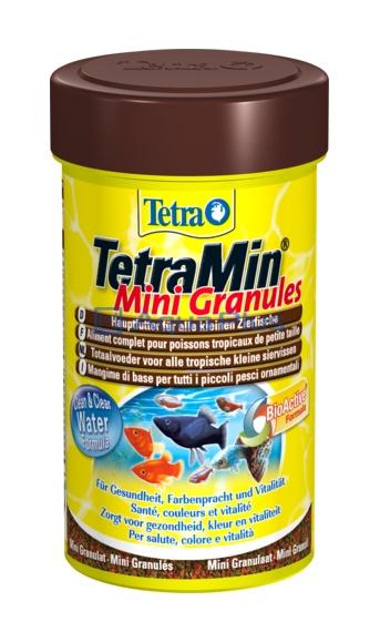 Корм для всех видов рыб Tetra Min Mini Granules 100ml 199057 Kormberi.ru магазин товаров для ваших животных