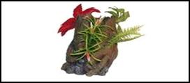 №1 №1 Грот Kоряга с растениями  и цветами MST-346 A  13.5*13*21 0.826кг ЕГ029 (Р) Kormberi.ru магазин товаров для ваших животных