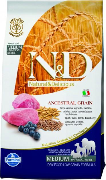 Farmina N&D LG ( 2,5кг) д/с всех пород Ягнёнок Черника (lamb blueberry) Adult (уп4) Kormberi.ru магазин товаров для ваших животных