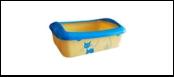"""№1 ****№1 Туалет  д/кошек """"кошка"""" с бортом малый 41*30*13см пластик Дт547-1 Kormberi.ru магазин товаров для ваших животных"""