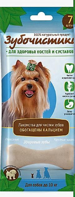 """Зубочистики """"Зубочистики"""" Кальциевые для собак мелких пород 7шт.(60г) 73303990 Kormberi.ru магазин товаров для ваших животных"""