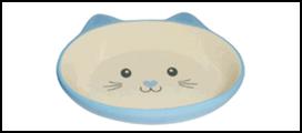 №1 №1 Миска керам. голубая в форме мордочки кошки 14*12,5*3,5см МКР863 Kormberi.ru магазин товаров для ваших животных