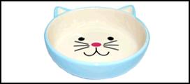 №1 №1 Миска керам. голубая в форме мордочки кошки 12,5*4см МКР801 Kormberi.ru магазин товаров для ваших животных