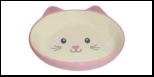 №1 №1 Миска керам. розовая в форме мордочки кошки 14*12,5*3,5см МКР862 Kormberi.ru магазин товаров для ваших животных