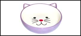 №1 №1 Миска керам. сиреневая в форме мордочки кошки 12,5*4см МКР802 Kormberi.ru магазин товаров для ваших животных