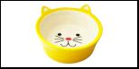№1 №1 Миска керам. глубокая в форме мордочки кошки, желтая 13,8*13,8*5см МКР4014-2 Kormberi.ru магазин товаров для ваших животных