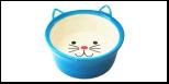 №1 №1 Миска керам. глубокая в форме мордочки кошки, голубая 13,8*13,8*5см МКР4014-3 Kormberi.ru магазин товаров для ваших животных