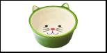 №1 №1 Миска керам. глубокая в форме мордочки кошки, зеленая 13,8*13,8*5см МКР4014-4 Kormberi.ru магазин товаров для ваших животных