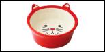 №1 №1 Миска керам. глубокая в форме мордочки кошки, красная 13,8*13,8*5см МКР4014-1 Kormberi.ru магазин товаров для ваших животных