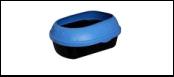 №1 ****№1 Туалет  д/кошек голуб. с бортом средний 49*38*16см пластик Дт541 Kormberi.ru магазин товаров для ваших животных