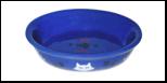 №1 №1 Миска керам. овальная синяя  15*10*3,5см МКР647 Kormberi.ru магазин товаров для ваших животных