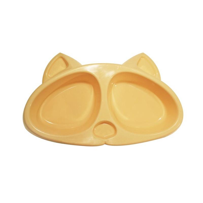 12020 миска Киска д/к  0,2*2 л  пластмассовая Kormberi.ru магазин товаров для ваших животных