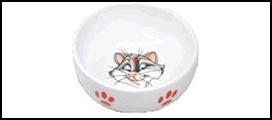 №1 №1 Миска керам. рис. кошка 13,4*4см МКР134 Kormberi.ru магазин товаров для ваших животных