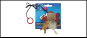 Дразнилка рыбка тканевая на пружине 9*6,5см  ИУ102 Kormberi.ru магазин товаров для ваших животных