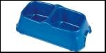 №1 №1 Миска двойная квадрат малая 23,5*12,5*4,5см, 2*200мл пластик Дм664 Kormberi.ru магазин товаров для ваших животных