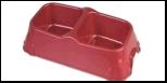 №1 №1 Миска двойная квадрат средняя 31*16*6см, 2*500мл пластик Дм663 Kormberi.ru магазин товаров для ваших животных