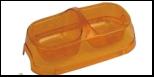 №1 №1 Миска полукруглая двойная прозр. большая 29*16*6см, 2*400мл пластик Дм868 Kormberi.ru магазин товаров для ваших животных
