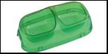 №1 №1 Миска полукруглая двойная прозр. средняя 24,5*13,7*6см, 2*200мл пластик Дм851 Kormberi.ru магазин товаров для ваших животных