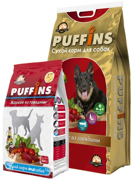 PUFFINS Puffins (15кг) д/с Жаркое из Говядины Kormberi.ru магазин товаров для ваших животных