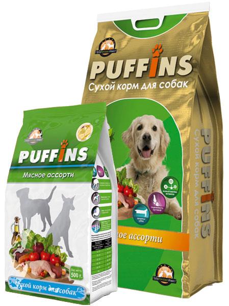 PUFFINS Puffins (15кг) д/с Мясное Ассорти Kormberi.ru магазин товаров для ваших животных
