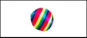 Игрушка-погремушка мяч полосат. нейлон. 4см ИУ89/мяч Kormberi.ru магазин товаров для ваших животных