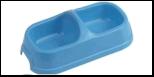 №1 №1 Миска полукруглая двойная  малая 22*12*6см, 2*150мл пластик Дм544 Kormberi.ru магазин товаров для ваших животных