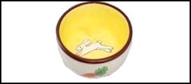 №1 №1 Миска керам. с рис. заяц и морковка 10*5см МКР218 Kormberi.ru магазин товаров для ваших животных