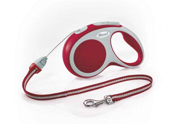 Флекси 8 м 12 кг Vario cord S красная (red), рулетка-Трос (Р) Kormberi.ru магазин товаров для ваших животных