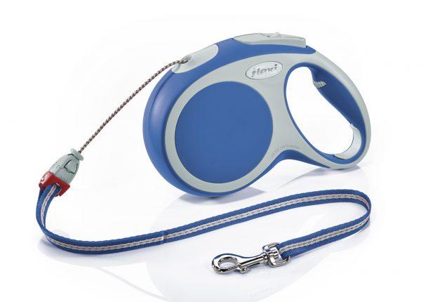 Флекси 8 м 20 кг Vario cord M синяя (blue), рулетка-Трос (Р) Kormberi.ru магазин товаров для ваших животных