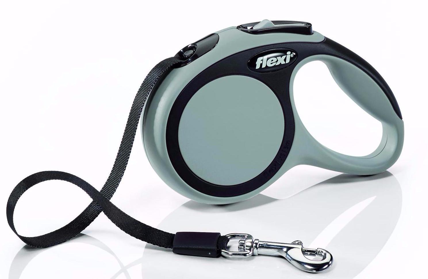 Флекси 8 м 50 кг New Comfort tape L серый (grey) Рулетка-ремень Kormberi.ru магазин товаров для ваших животных