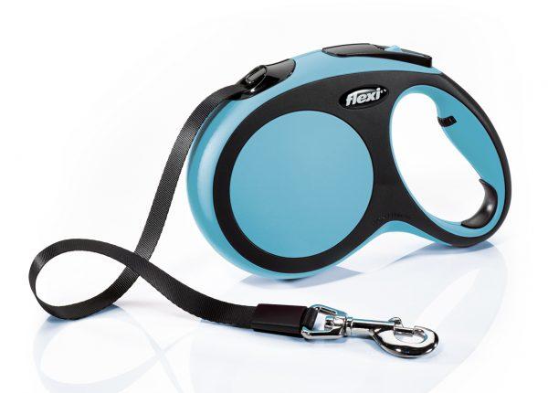 Флекси 5 м 60 кг New Comfort tape L голубой (blue) Ремень-рулетка Kormberi.ru магазин товаров для ваших животных