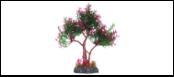 Уют Растение аквариумное 22 см, дерево зелено-фиолетовое ВК404 Kormberi.ru магазин товаров для ваших животных