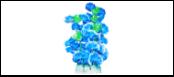 Уют Растение аквариумное 24 см, голубые цветы ВК504 Kormberi.ru магазин товаров для ваших животных