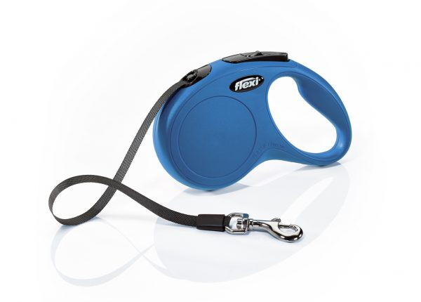 Флекси 5 м 15 кг New Classic tape S синяя (blue) Ремень-рулетка Kormberi.ru магазин товаров для ваших животных