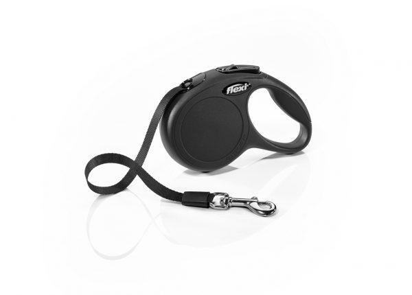 Флекси 3 м 12 кг New Classic tape XS черная (black) рулетка-Ремень Kormberi.ru магазин товаров для ваших животных