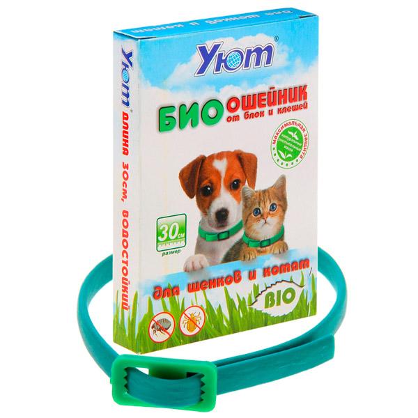 УЮТ Уют БИОошейник от блох для щенков и котят, 30см репелентный 1*20*6шт К-03 Kormberi.ru магазин товаров для ваших животных