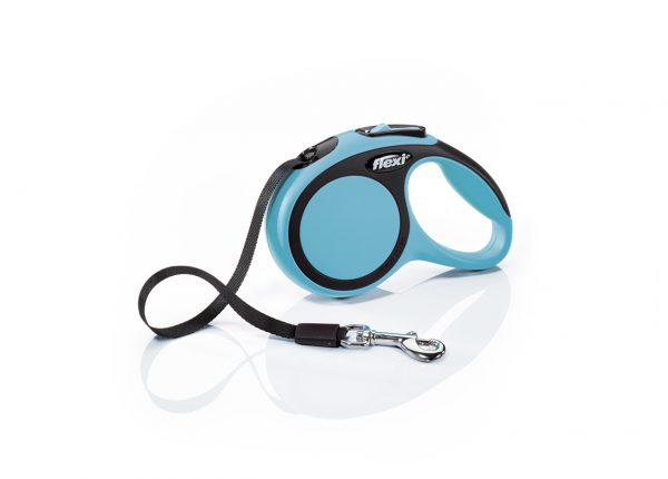 Флекси 3 м 12 кг New Comfort tape ХS синий (blue) рулетка-Ремень Kormberi.ru магазин товаров для ваших животных