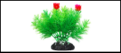 Уют Растение аквариумное 11 см, Маяка зеленая с красными цветами 0,055кг ВК206 Kormberi.ru магазин товаров для ваших животных