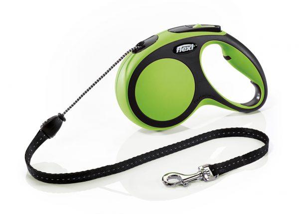 Флекси 5 м 20 кг New Comfort cord М зеленая (green) рулетка-Трос Kormberi.ru магазин товаров для ваших животных