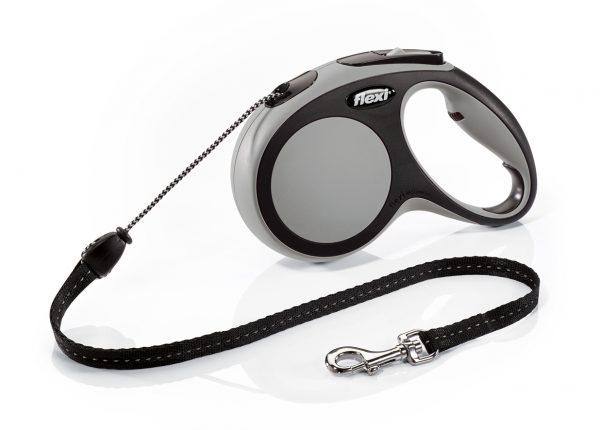 Флекси 5 м 20 кг New Comfort cord М серая (grey) рулетка-Трос Kormberi.ru магазин товаров для ваших животных
