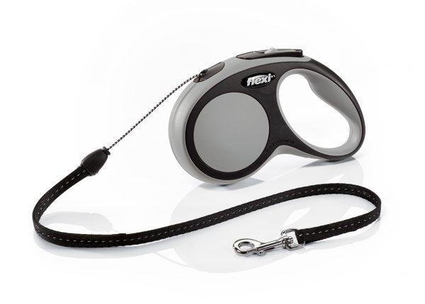 Флекси 5 м 12 кг New Comfort cord S серая (grey) рулетка-Трос Kormberi.ru магазин товаров для ваших животных
