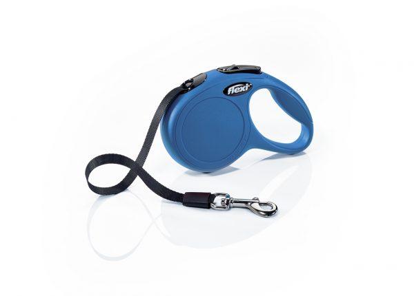 Флекси 3 м 12 кг Классик ХS синий (blue), ремень Рулетка Kormberi.ru магазин товаров для ваших животных