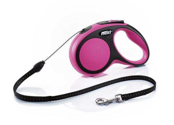 Флекси 5 м 12 кг New Comfort cord S розовый (pink) рулетка-Трос Kormberi.ru магазин товаров для ваших животных